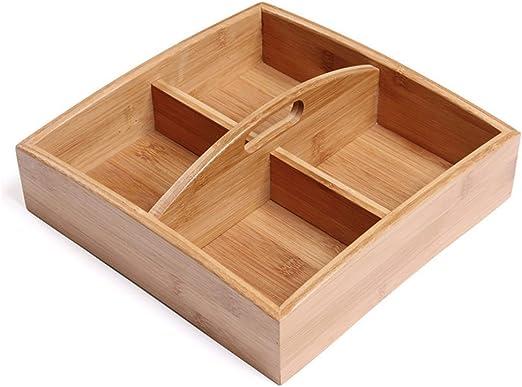 Caja de madera organizador caja de almacenamiento de alimentos ...