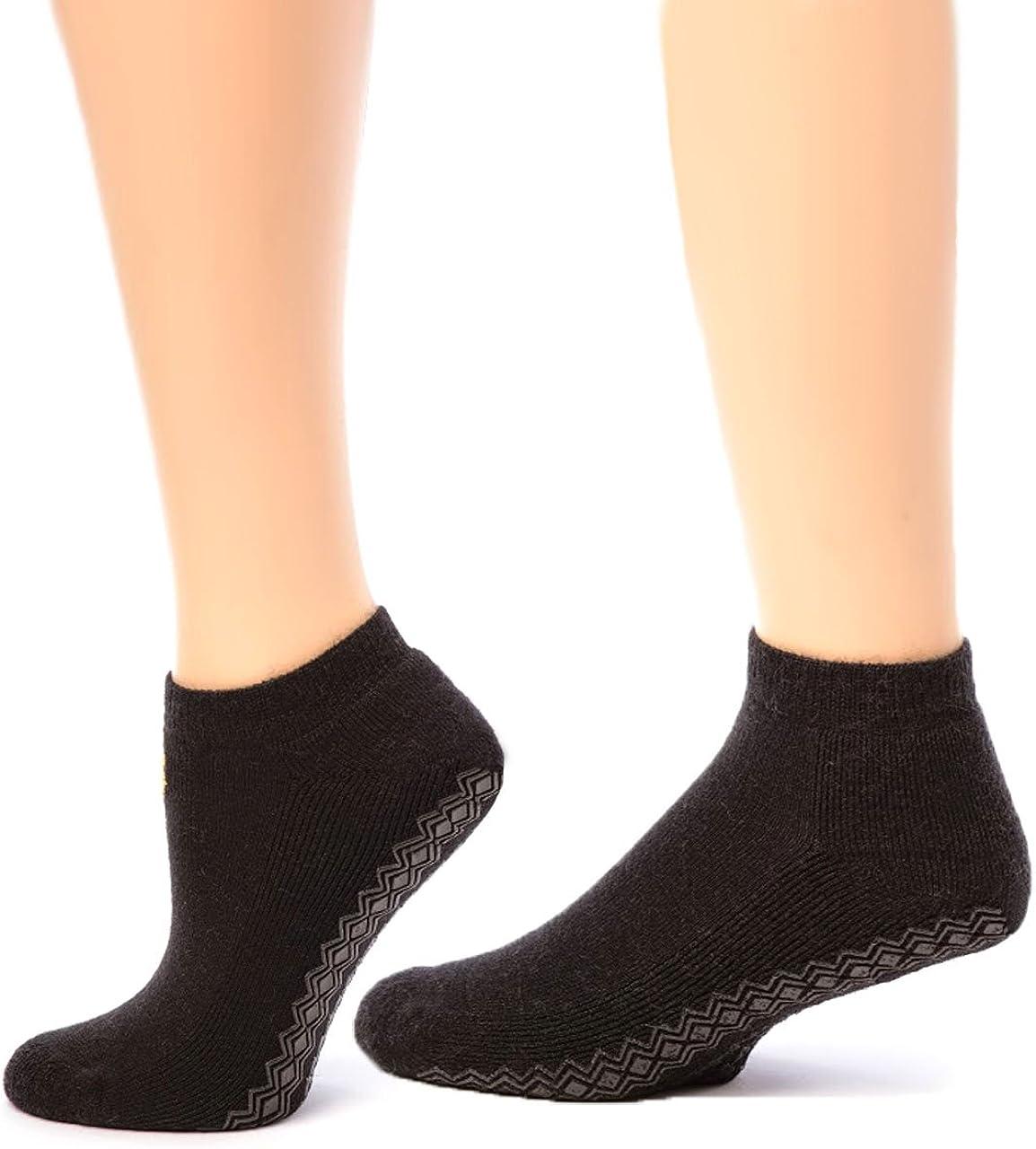 Warrior Alpaca Socks - Women's Non-Skid Mini Crew Alpaca Wool Sock - Ankle High