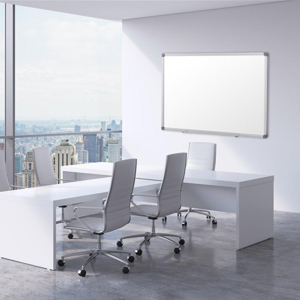 SwanSea Dry Erase Wipe Whiteboard Oficina de placas magnéticas 90x60cm (WxH): Amazon.es: Oficina y papelería