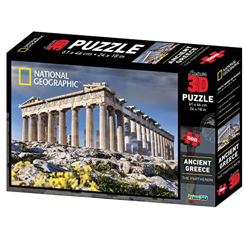 National Geographic NG10055 Super Ancient Greece/The Parthenon 3D Puzzle (500-Piece) by National Geographic (Ancient Greece Kits)