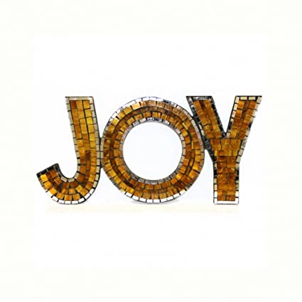 Mosaic Word Joy Size 44x21 Cm Retro Contemporary Modern