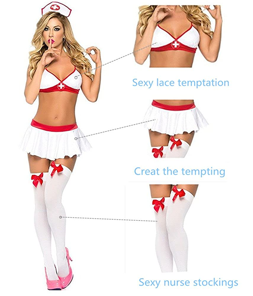 Sexy nurse in stockings