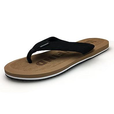 7206a76a4 URBANFIND Men s Flip Flops Fashion EVA Thong Sandals TPR Non Slip Shower  Slippers Camel