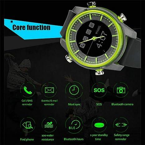 ZDNP Reloj Inteligente Resistente al Agua con Bluetooth ...