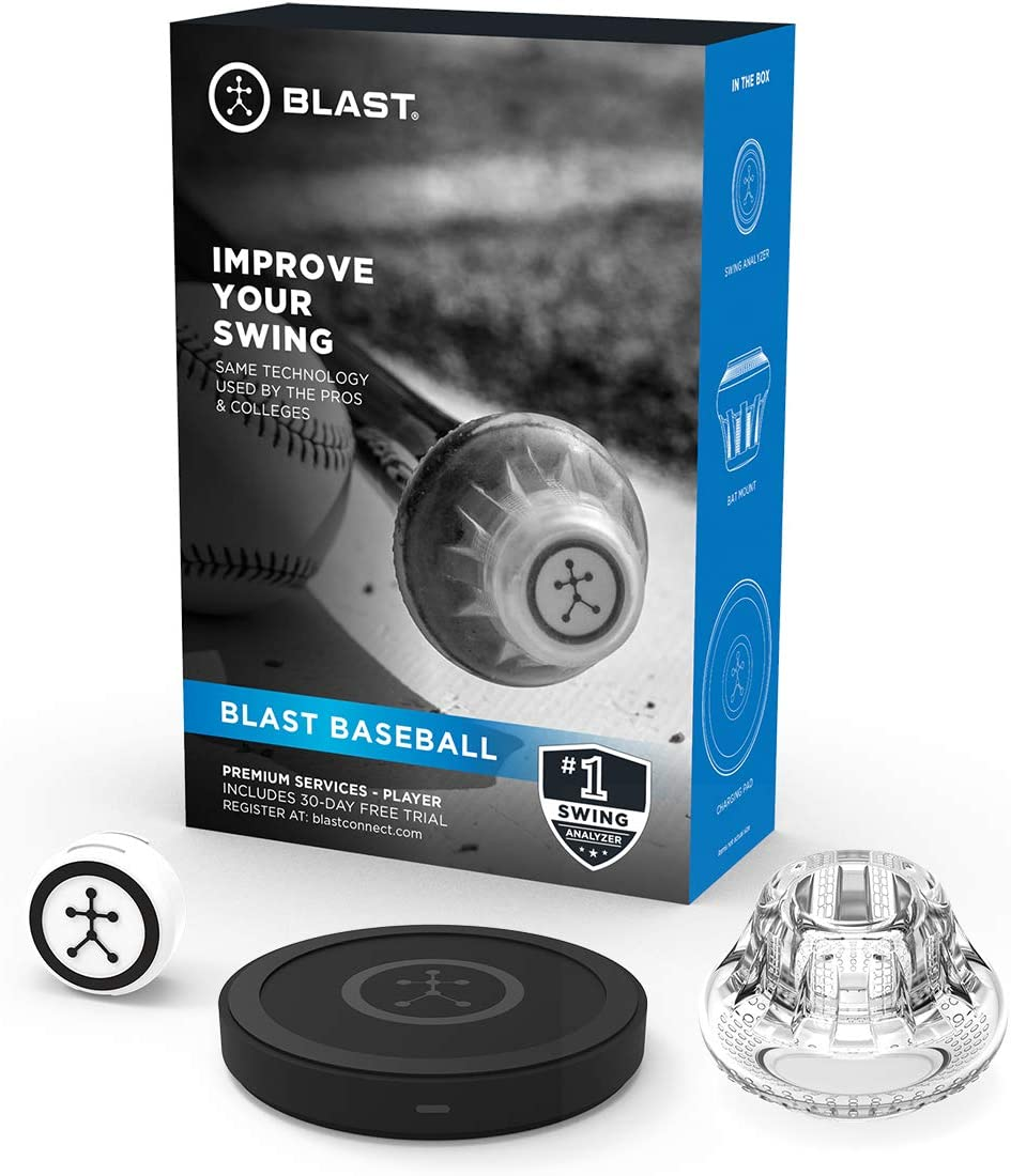 Blast Baseball Swing Analyzer | Instant Feedback | Track Progress | Capture Video | 3D Swing Tracer | App Enabled, iOS and Adroid Compatible (900-00040) : Sports & Outdoors