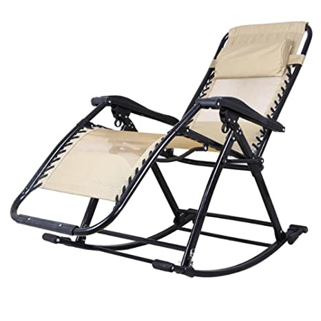 Amazon.com: ZR - Silla de balanceo/reclinable plegable\silla ...