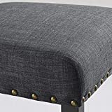 Biony Gray Fabric Counter Height Stools with