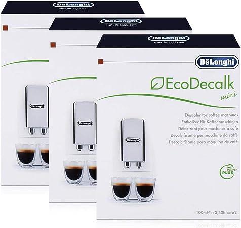 Descalcificadores DeLonghi EcoDecalk, 2 unidades, 100 ml, 3 ...