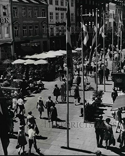 Press Photo Copenhagen famous walking streets Stroget in Denmark - cva21939 - 10 x 8 in. - Historic - In Copenhagen Best Shopping