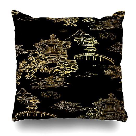 Ahawoso Funda de almohada para cojín con diseño de artista ...