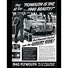 The 1940 Plymouth Is Here Vintage Tin Sign Advertising