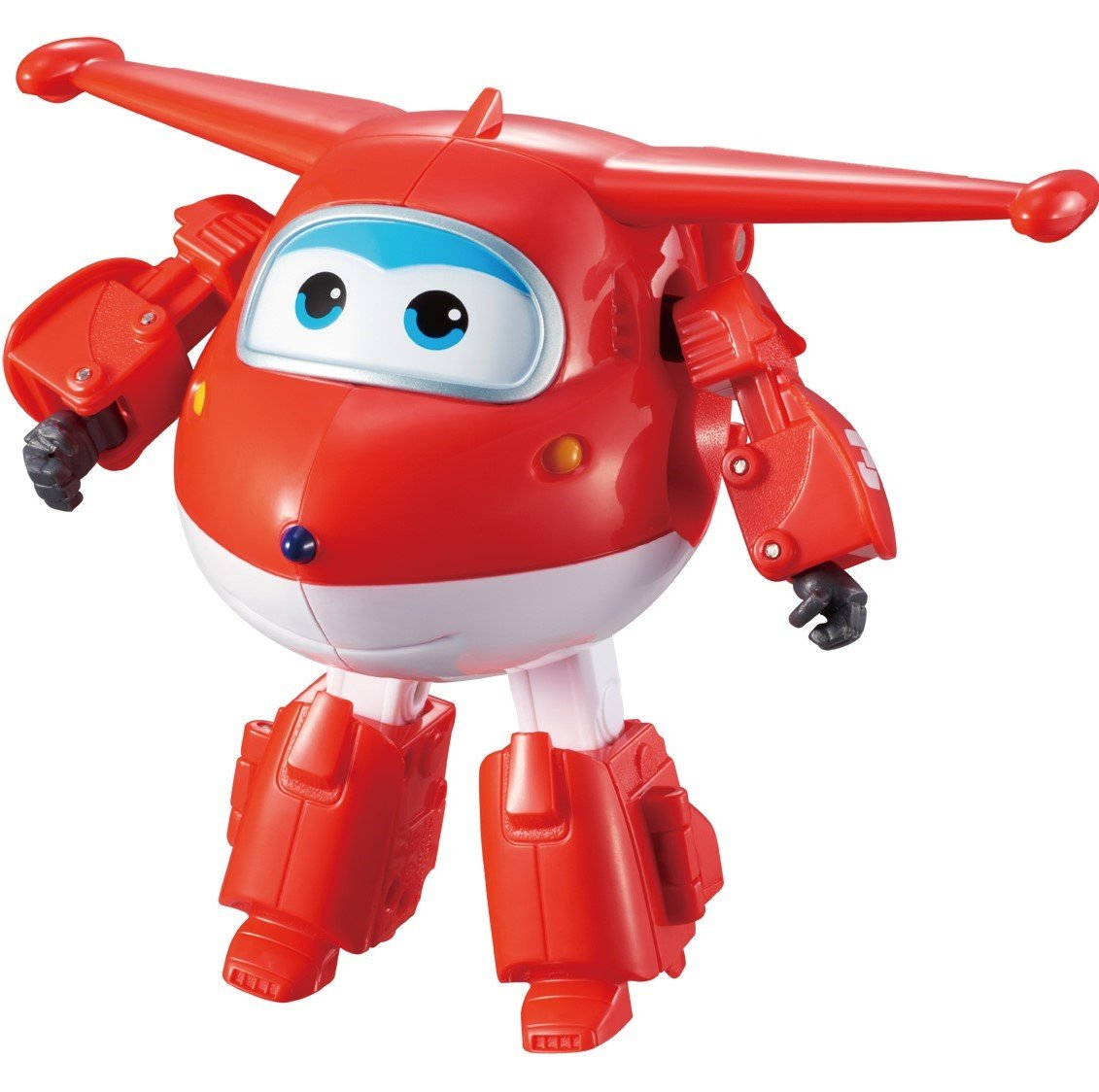 "Super Wings - Transforming Jett Toy Figure | Plane | Bot | 5"" Scale Auldey (Domestic) US710210"