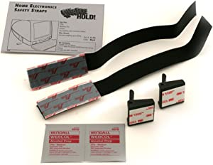 QuakeHold! 4173 Home Electronic Safety Strap, Black