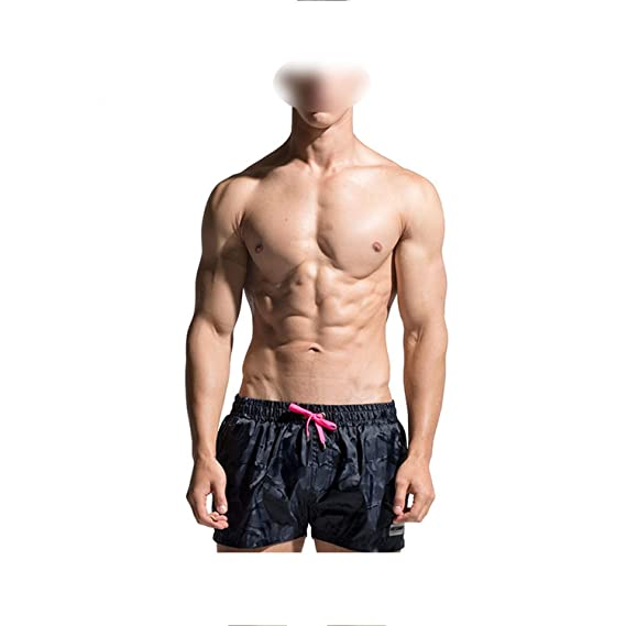 fac2fa024 Desmiit Men Swimsuit Camouflage Swimwear Boxer Beach Shorts Quick ...