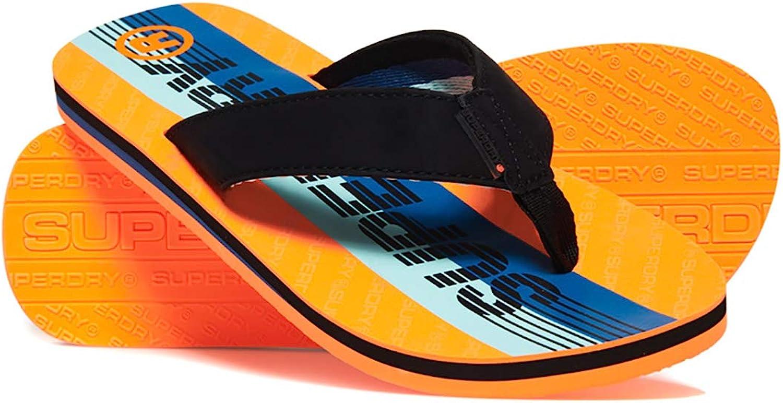 superdry blue scuba orange tongs