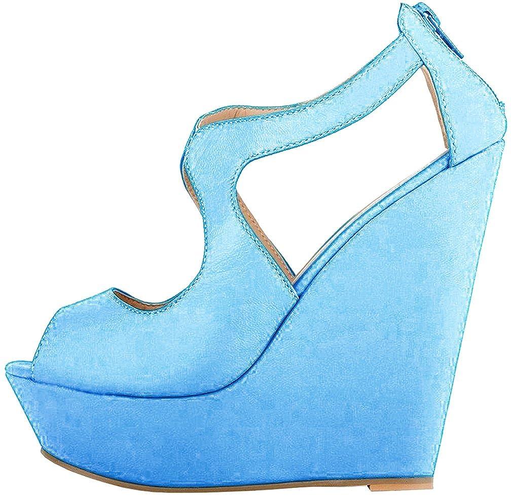 Calaier  Caluckily, Damen Sandalen, blau EU - Blau B - Größe: EU blau 43,5 - 2cf512