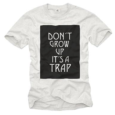 Fun Camisetas Con Frases Don T Grow Up It S A Trap Negro