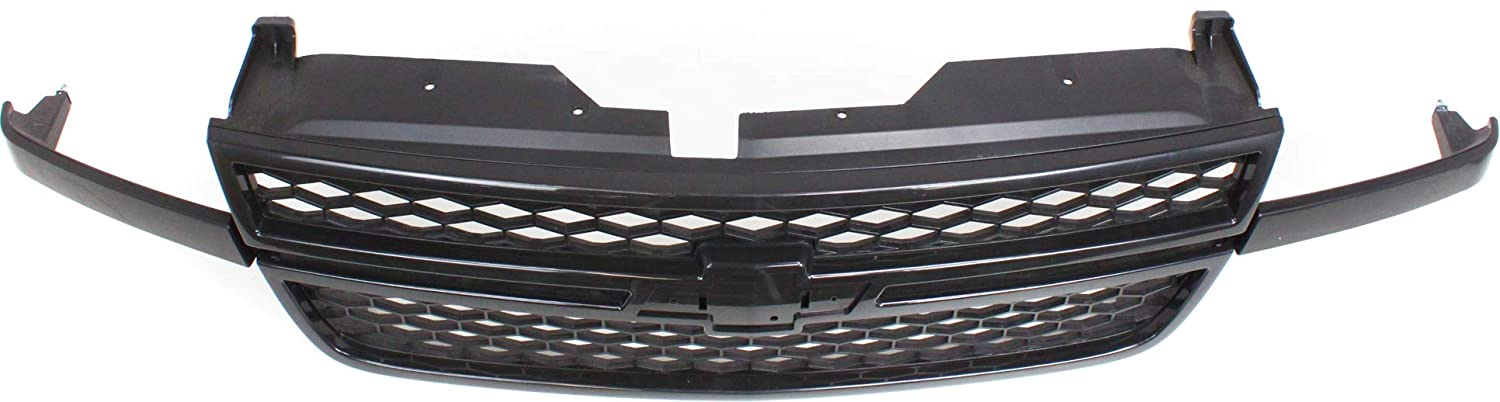 Grille Assembly Compatible with CHEVROLET SILVERADO 1500 P//U 2003-2006 Honeycomb Plastic Textured Black HD Model Includes 2007 Classic