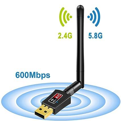 Amazon.com: Mailiya AC600Mbps adaptador inalámbrico ...