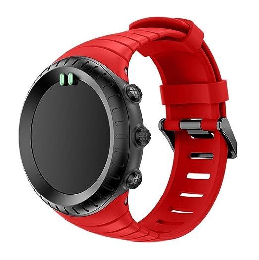 Sannysis banda de silicona para Suunto Core (Rojo)