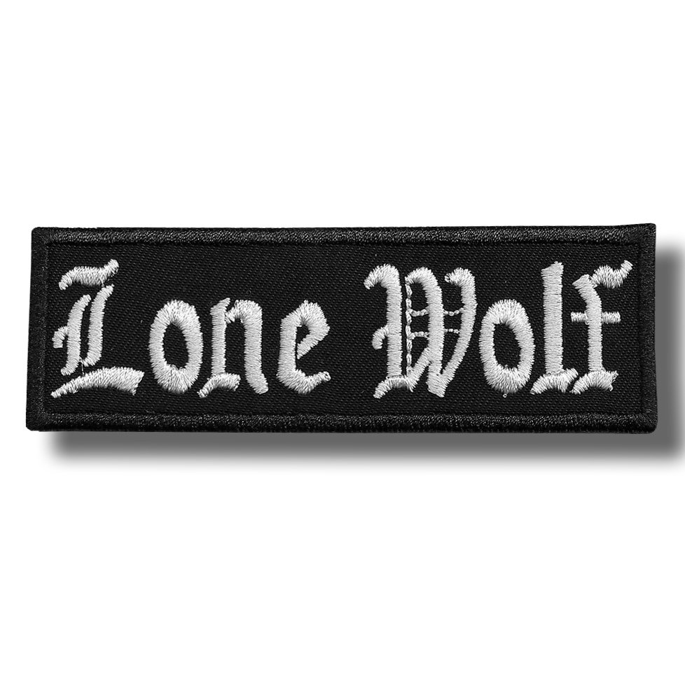 Lone wolf - embroidered patch, 11 X 3,5 cm Patch-shop