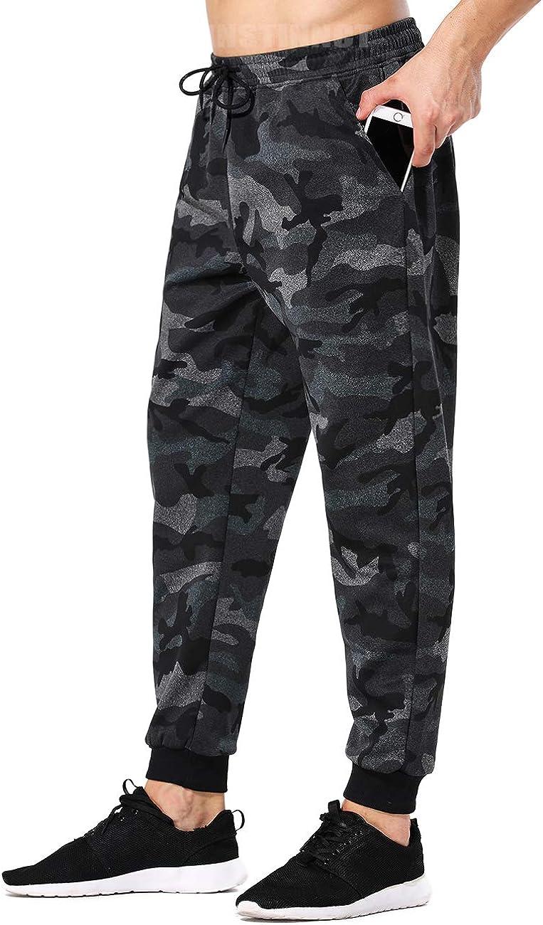 INSTINNCT Mens Sweatpants Track Sports Training Jogger Pants Slim Fit Trousers Zipper Pocket