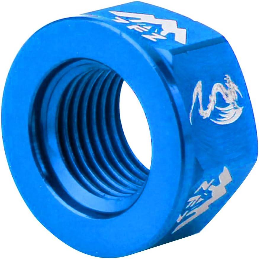 4 Colores Opcionales P Prettyia 4 Pcs Tuercas Tornillos de Bicicleta Fixie de Aleaci/ón de Aluminio para M10 Azul