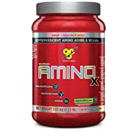 BSN Amino X Muscle Support Powder Supplement with Vitamin D, Vitamin A & Amino Acids. BCAA powder by BSN - Green Apple, 70 Servings, 1.01kg
