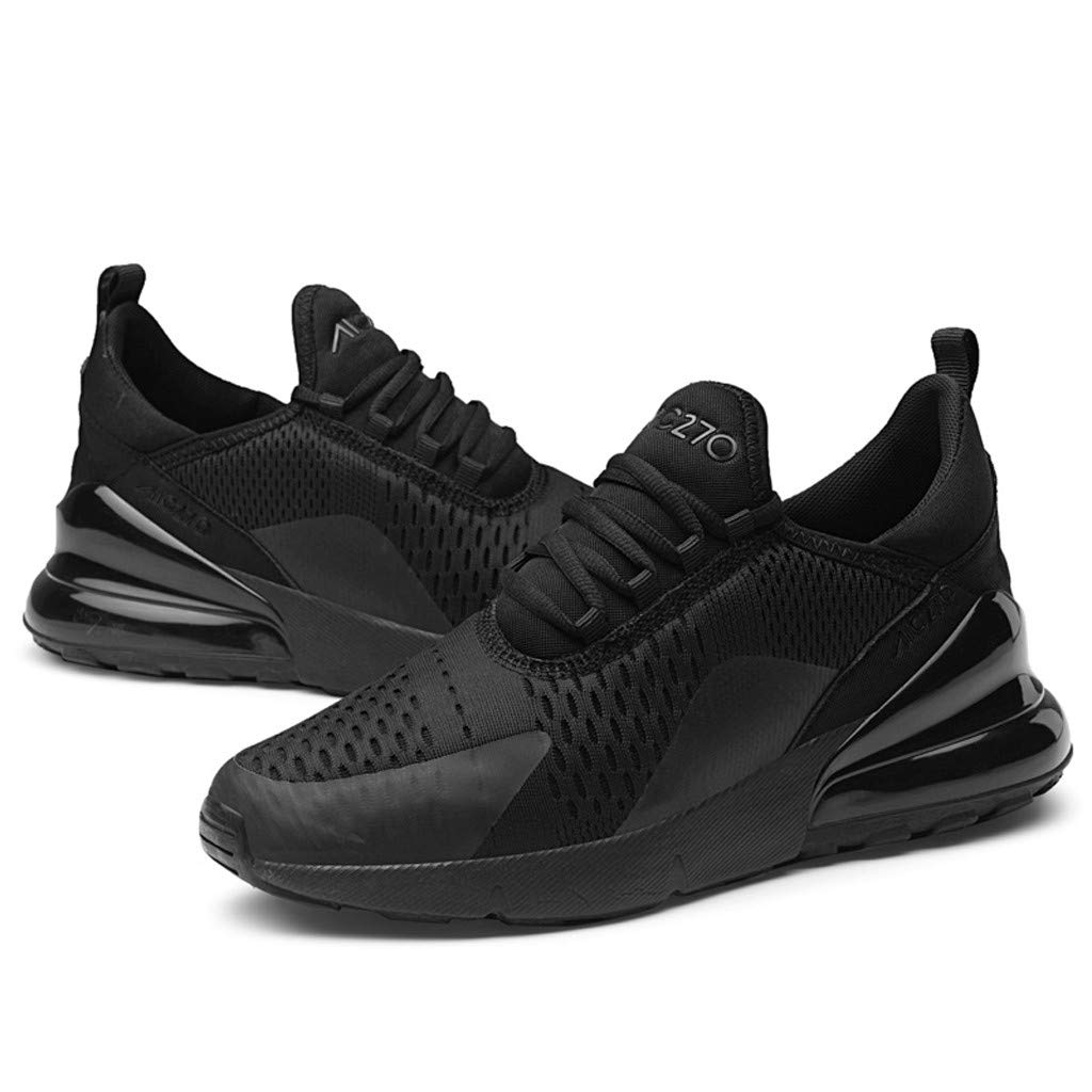 7aecbaadc10ae8 Amazon.com  Men Mesh Lace-Up Athletic Shoes Flat Running Non-Slip Light  Sport Sneakers  Sports   Outdoors