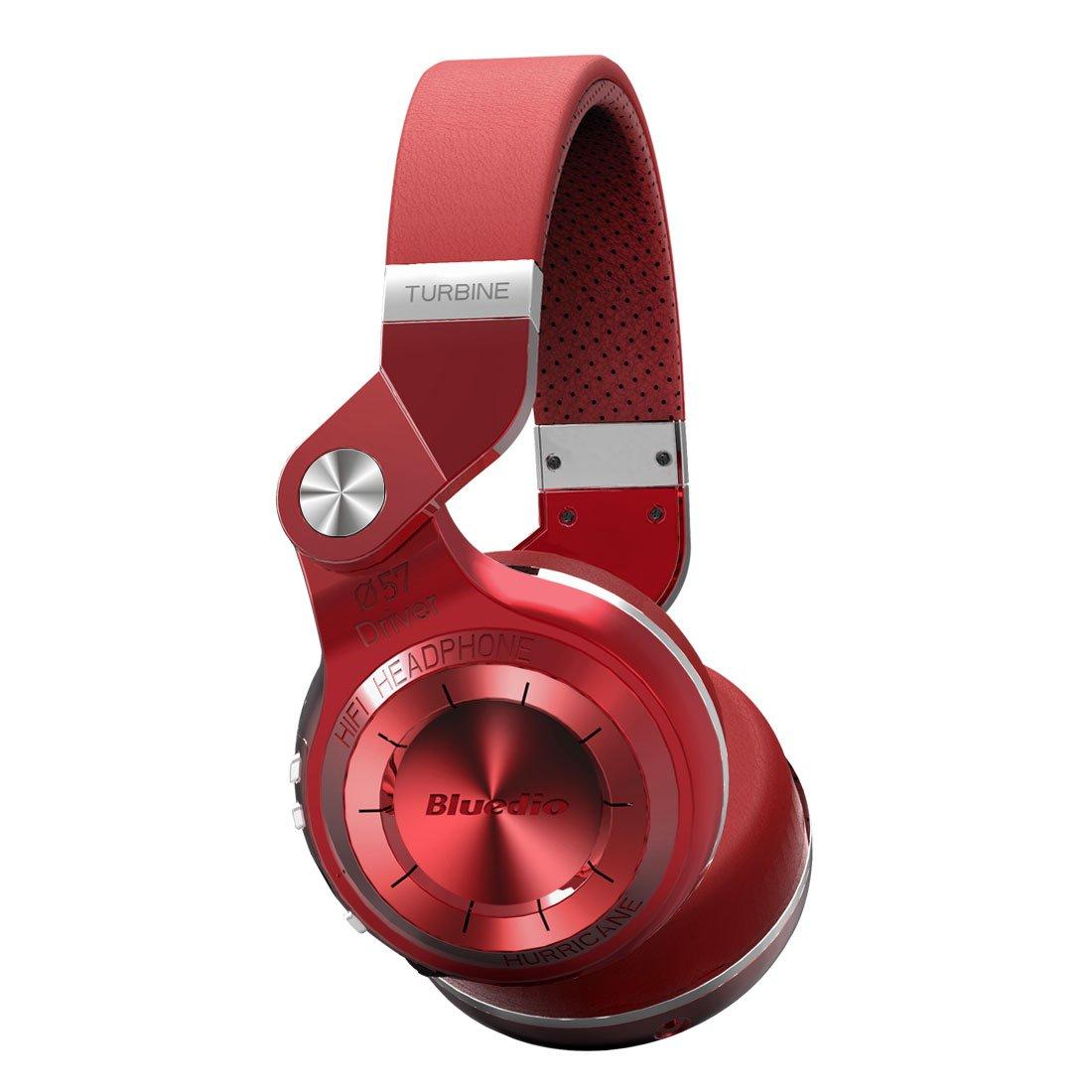 Bluedio T2 Plus Turbine Wireless Bluetooth Headphones with Mic/Micro SD Card Slot/FM Radio (Black) T2VBCA01