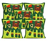 5Pcs-100Pcs Amazing India Ethnic Patchwork Dark Green Home Decor Cushion Covers Wholesale Lot