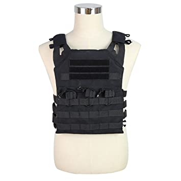 JPC Tactical Vest Military Wargame Chest Rig Molle Plate Carrier Hunting  Vest Outdoor Uniform Combat Gear 491d2f47b7f