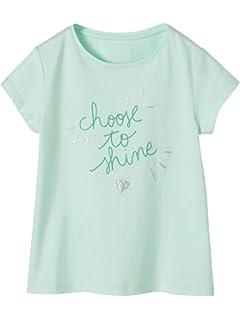 1425adc5a0f24 Vertbaudet T-Shirt Fille à Message Fantaisie Encre gonflante irisée Bleu  Pale 14 A