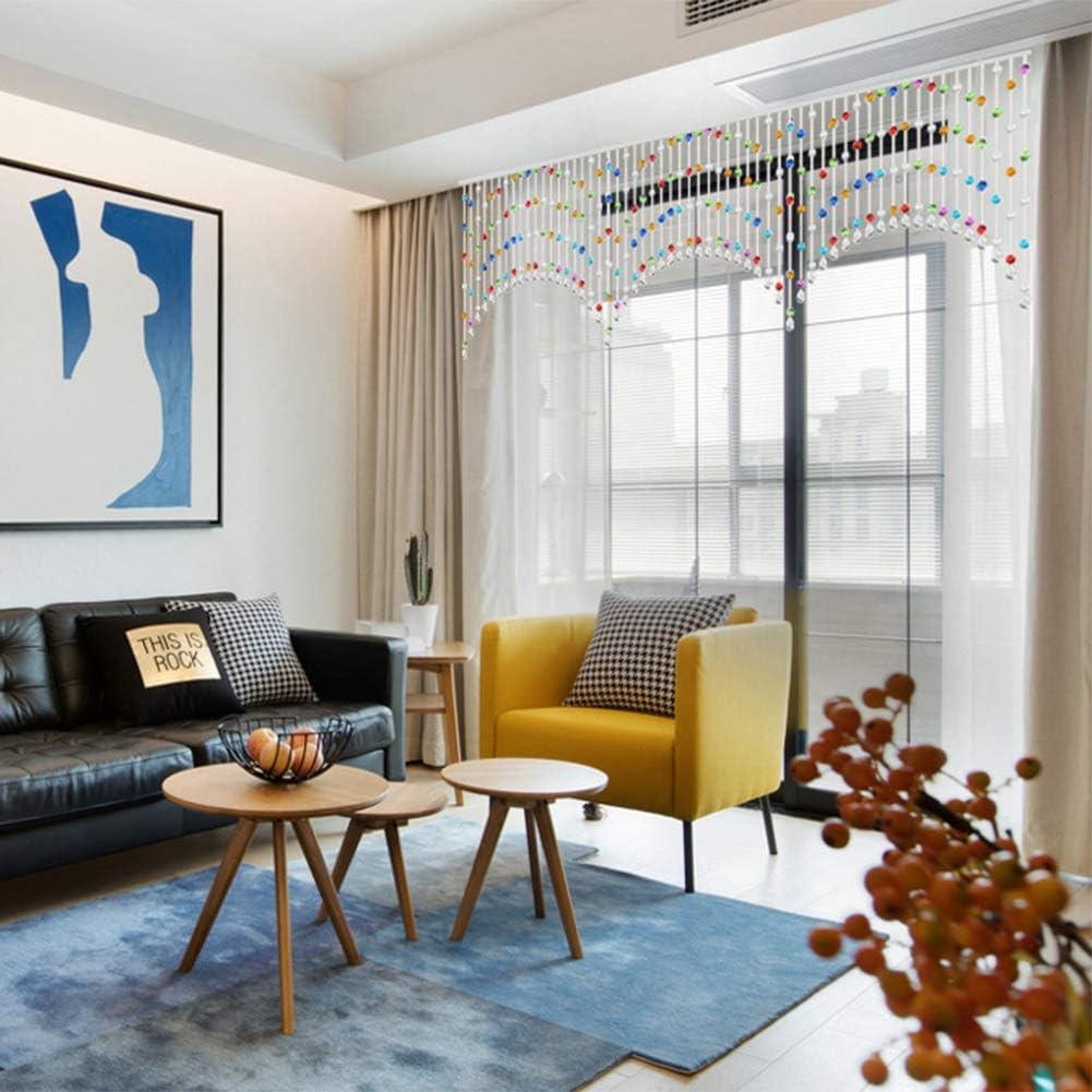 GDMING Arco Cristal Cortinas De Hilos para Puertas Brillar Cortina De Cuentas Tabique Ventana Decoración Habitación Sala,Personalizable (Color : A, Size : 25strands 80x70CM): Amazon.es: Hogar
