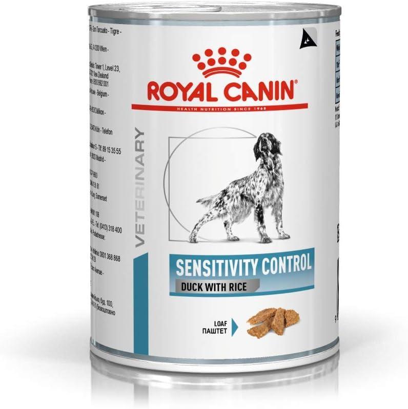 Royal Canin Alimento para Perros con Sabor a Pato Sensitivity Control - 420 gr, pack de 12