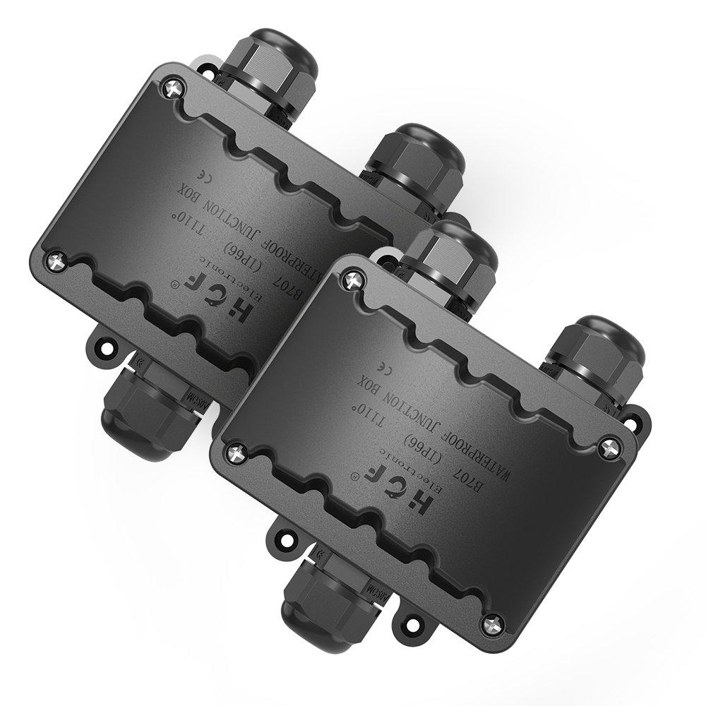 Abzweigdose,IP66 wasserdicht Kabelverbinder aussen, größere 3-Wege ...