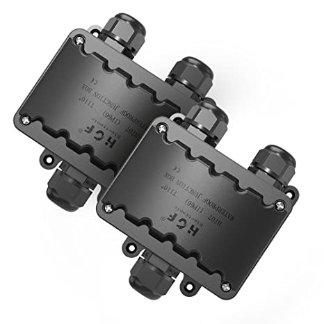 Cajas Electricas, Grandes 3 VÍAs Caja Estanca 2 Pquetes IP66 Negro Caja Empalmes Estanca,