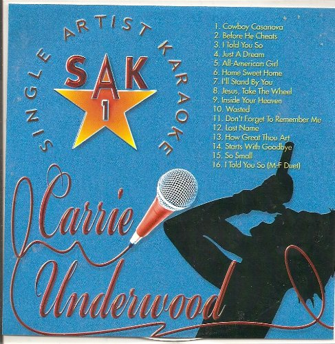Hits of CARRIE UNDERWOOD Single Artist Karaoke CDG SAK #1 ()