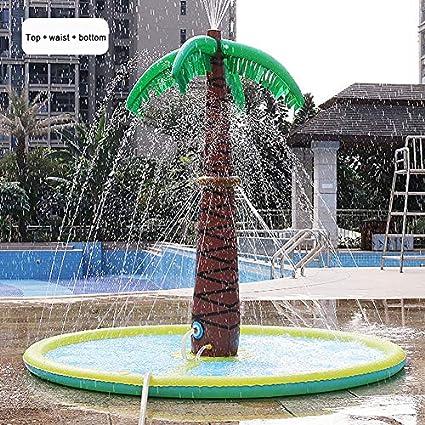 KELEQI Juguete De Árbol De Coco Inflable con Agua para Niños,2020 Nuevo Verano Al Aire Libre Playa Césped Césped Spray, Cojín De Chorro De Agua