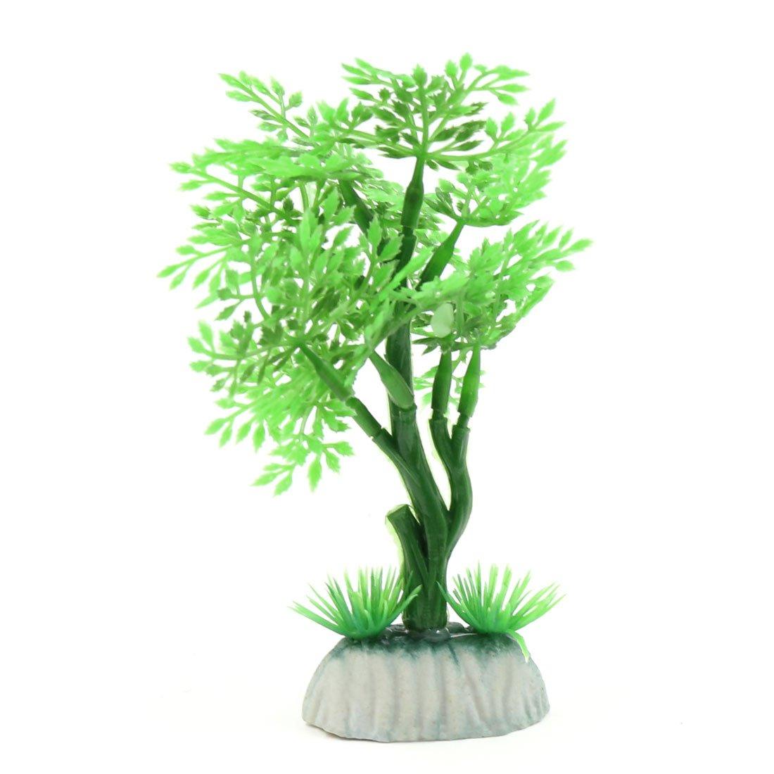 sourcing map Verde Decoración Plástica Verde del Hogar Ornamento del Acuario Cuenco de Peces de La Planta para la Pecera Pequeña: Amazon.es: Productos para ...