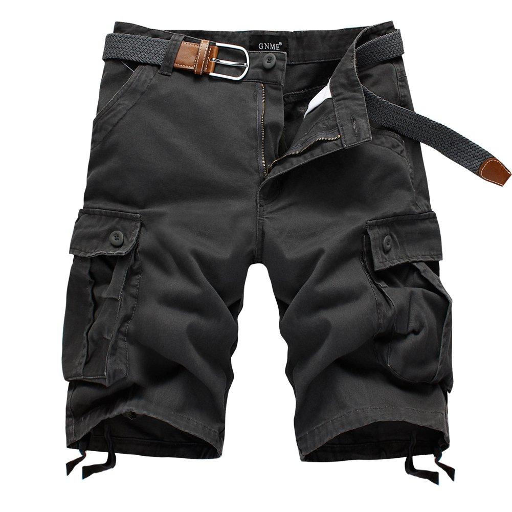 Men Leisure Dungarees Multi-Pocket Cargo Short Beach Pants Plus Size
