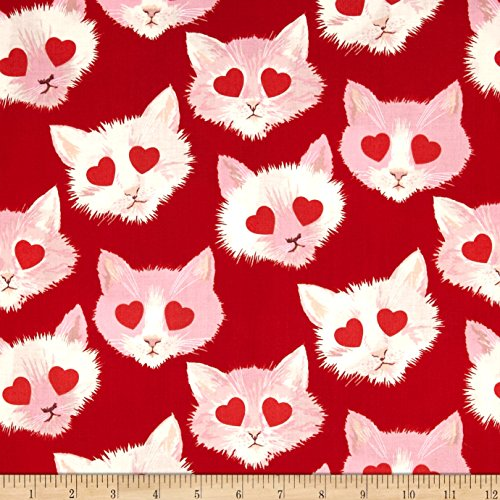Fabric Henry Alexander (Alexander Henry Love Luck and Liberty Lovestruck Red Fabric)