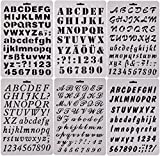 #10: Easonove Set of 6 Alphabet Letter and Number Drawing Painting Stencils Scale Template for Planner/Notebook/Diary/Scrapbook/Journaling/Graffiti/Card DIY Drawing Painting Craft Projects