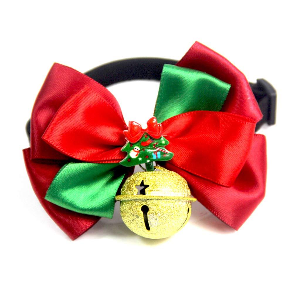 Balacoo Natale Cane Collare con Fiocco Regolabile Pet Bowknot Campana Cravatta Pet Accessori per Costumi di Natale Decorazioni per Cuccioli bomboniera