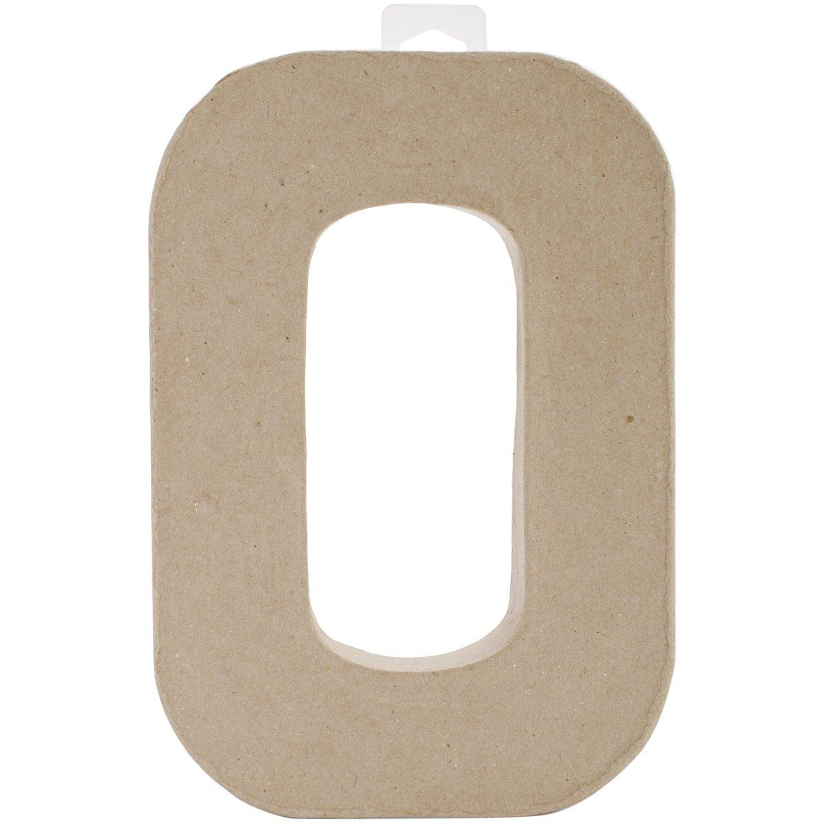 Darice Paper Mache Letter - O - 8 x 5.5 x 1 inches 2862-O