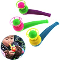 Sanwooden Toy Gift Blowing Toy Funny Colorful Kids Sport Blowing Toy Fillers Pipe Ball Game Birthday Gifts Toys for All Ages