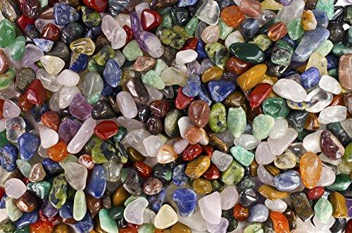Fantasia Materials: 5 lbs Premium Brazilian Tumbled Polished Natural Stones Assorted Mix - XSmall - 0.50