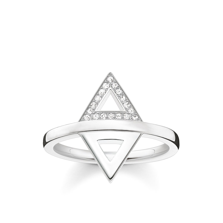 Thomas Sabo Mujer plata de ley 925 plata blanco diamante FINERING Thomas Sabo GmbH D_TR0019-725-14-50