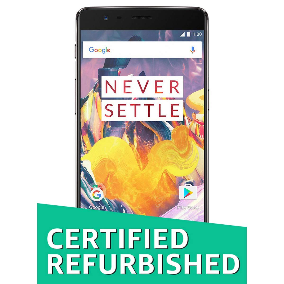 (Renewed) OnePlus 3T (Gunmetal, 128GB)