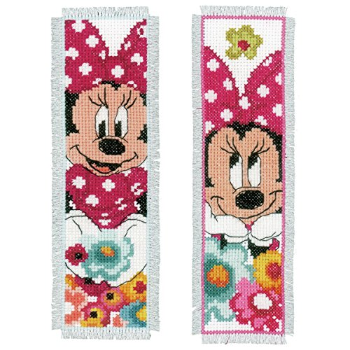 Vervaco Disney Minnie Mouse 'Daydreaming' Bookmarks Counted